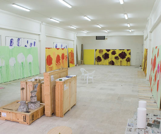 Twombly painting studio