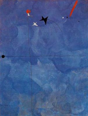 miro blue abstract painting
