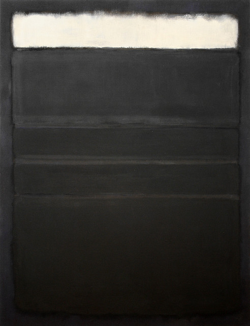Mark Rothko black painting