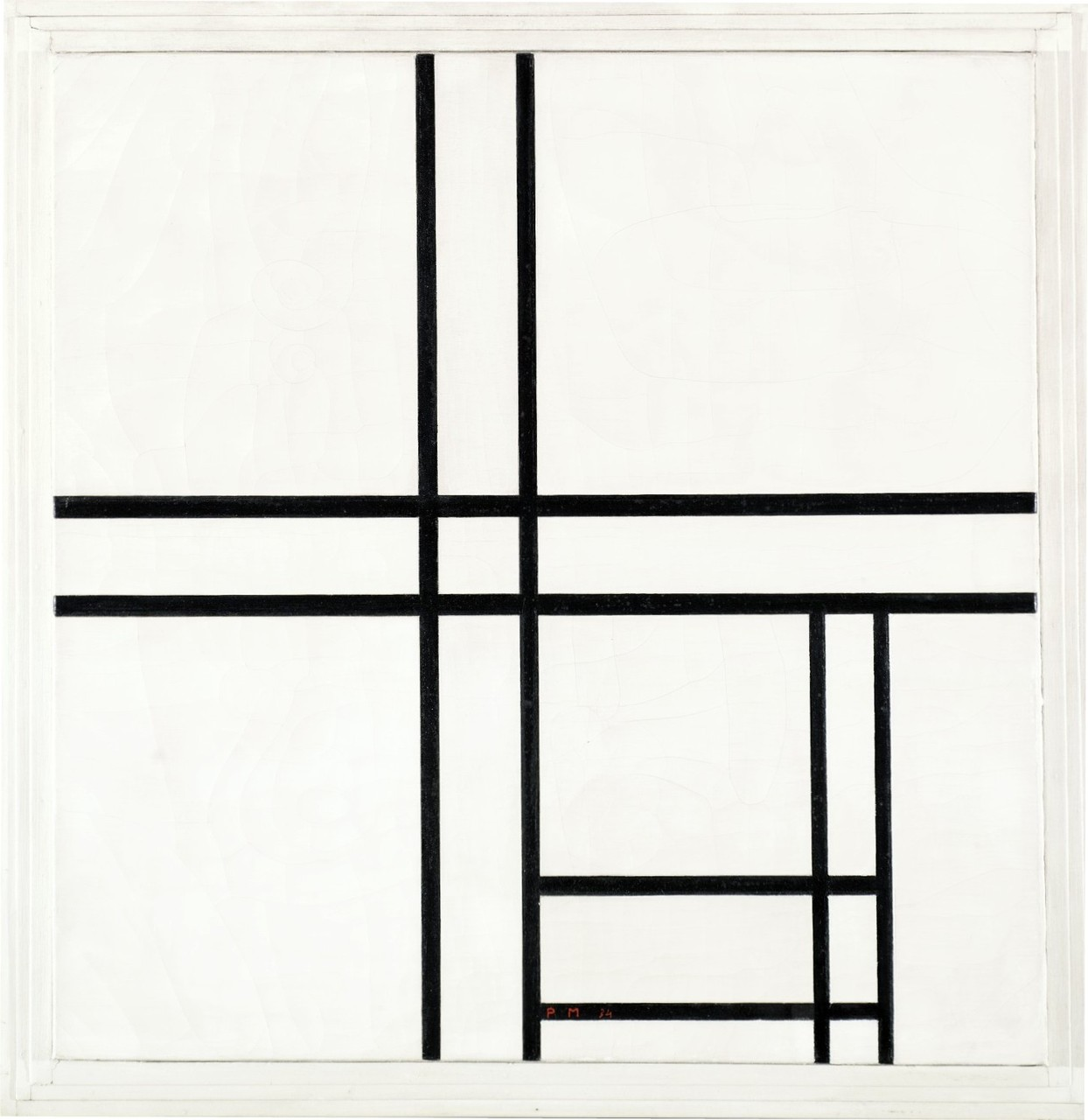 Mondrian art, mondrian abstract art, mondrian black and white