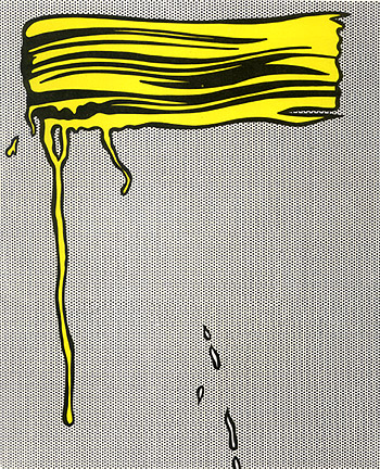 Roy Lichtenstein brushstrokes, pop art artists