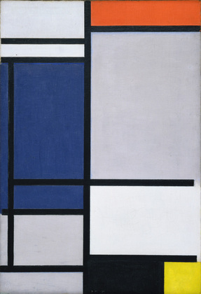 Mondrian abstract painting