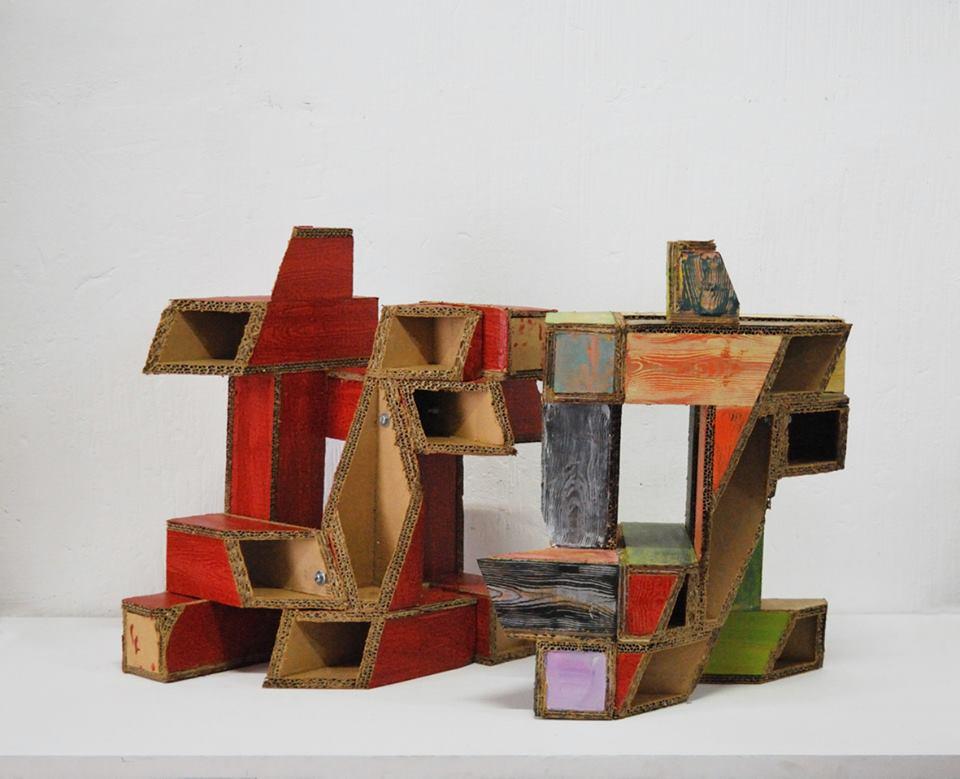 Rodchenko, secciones en proceso, two sculptures by Manu Muniategiandikoetxea